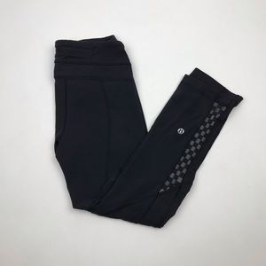 Lululemon Black Pants With Checkers Size 4